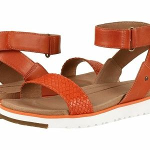 UGG Laddie Ankle Strap Sandal Orange NEW IN BOX